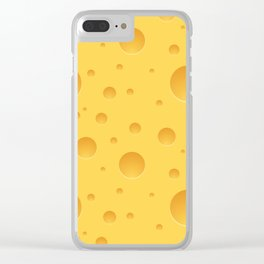 Fresh Cheese Pattern Clear iPhone Case