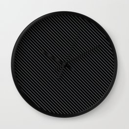 Dark Shadow and Black Stripe Wall Clock