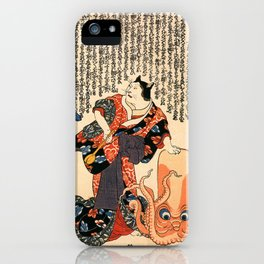 The Cat Turned into a Woman iPhone Case