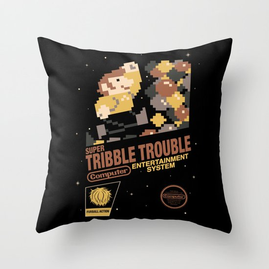Super Tribble Trouble Throw Pillow