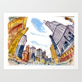 Building High River Deep Art Print