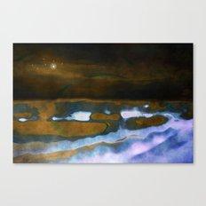 Sea landscape by night Canvas Print