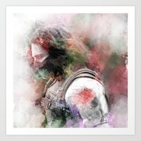 the winter soldier Art Prints featuring Winter Soldier by NKlein Design