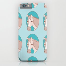 Horse in Oval Pattern iPhone Case