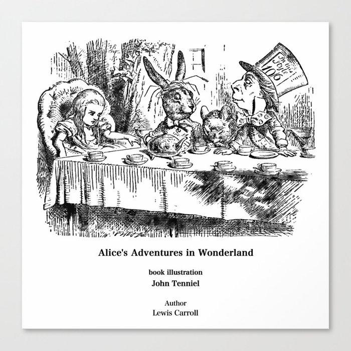 "John Tenniel, "" Alice's Adventures in Wonderland "" Leinwanddruck"