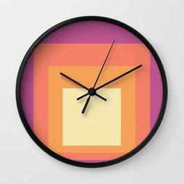 Block Colors - Pink Orange Cream Wall Clock