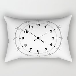 Barbed Wire Clock Rectangular Pillow