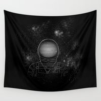 astronaut Wall Tapestries featuring Astronaut  by Becky Hayes