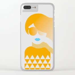 I Like Patterns on a Windy Day (orange) Clear iPhone Case
