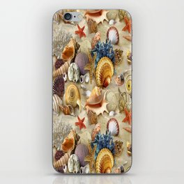 Fancy Seashells And Starfish iPhone Skin