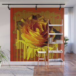Yellow Rose of Texas Western Style Modern Abstract Wall Mural