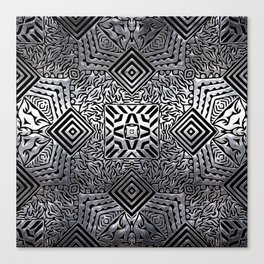 Silver Steel Carving Canvas Print
