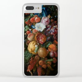 Antique Botanical IV [antique painting remixed] Clear iPhone Case