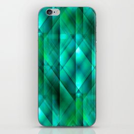 Facets of the Stone (emerald) iPhone Skin