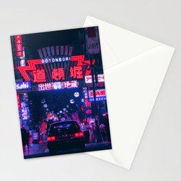 Dotonbori Night Walks Stationery Cards