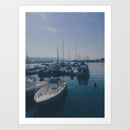 French Boats Art Print