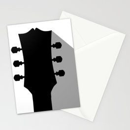 Guitar Headstock With Shadow Stationery Cards