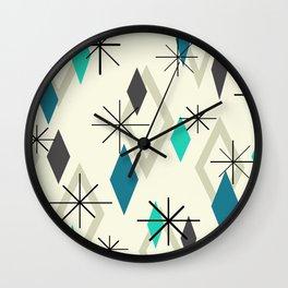 Mid Century Modern Diamonds Wall Clock