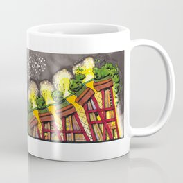 Fireworks Explosion Architectural Design 88 Coffee Mug