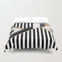 stripe Duvet Covers featuring Stripe Combination by Elisabeth Fredriksson