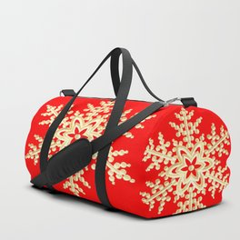 Snowflake in a Red Field Gift Duffle Bag