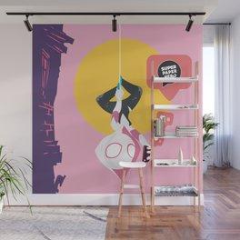 Spider Gwen Super Paper Hero Wall Mural