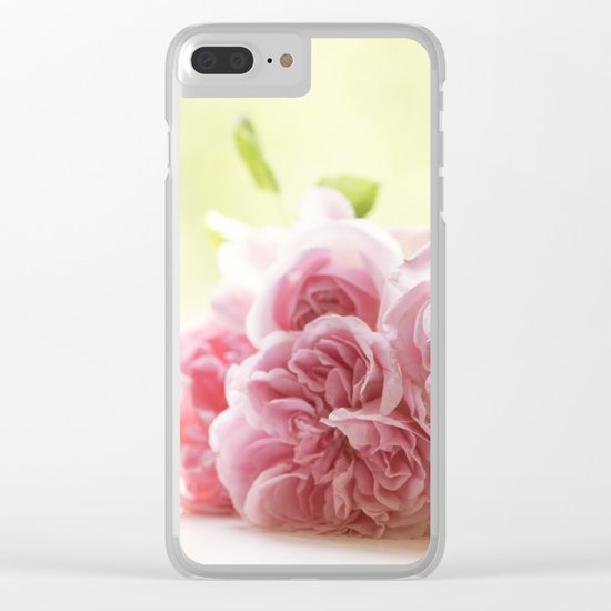 Wonderful pink Roses in LOVE - Vintage Rose Stilllife Photography Clear iPhone Case