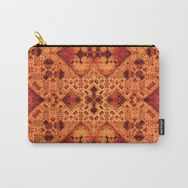 3-D Mosaic in Red and Orange Carry-All Pouch