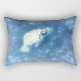 Psychedelic Space Turtle Rectangular Pillow