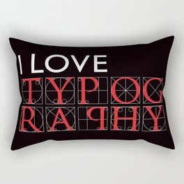 Typography Rectangular Pillow