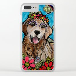 Golden Retriever Service Dog (Ryver) Clear iPhone Case