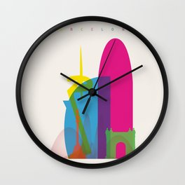 Shapes of Barcelona. Accurate to scale Wall Clock