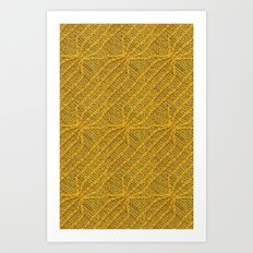 Yellow Lines Knit Art Print