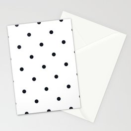 Little Dots Black on White Stationery Cards