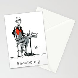 A Few Parisians: Beaubourg by David Cessac Stationery Cards