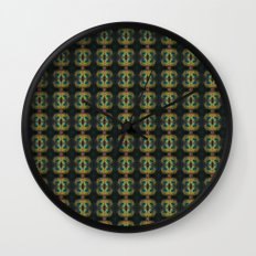Peacock Bead Abstract Wall Clock