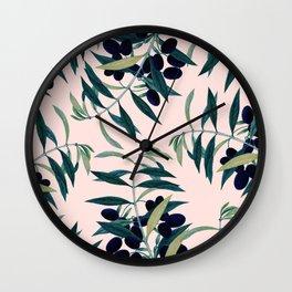 Olive Branch Pattern #society6 #decor #buyart Wall Clock