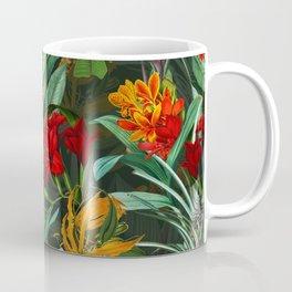 Vintage & Shabby Chic - Colorful Tropical Night Garden Coffee Mug