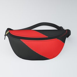 Oblique red and black Fanny Pack