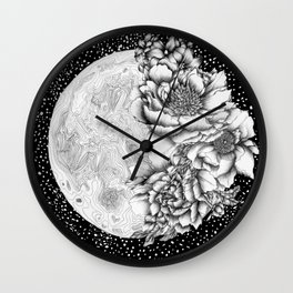 Moon Abloom Wall Clock