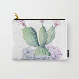 In Love Rose Cactus + Succulents Carry-All Pouch