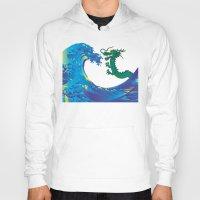 hokusai Hoodies featuring Hokusai Rainbow & Dragon by FACTORIE