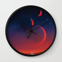 NASA Retro Space Travel Poster #13 - TRAPPIST-1e Wall Clock