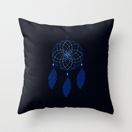 The Blue Dreamcatcher Throw Pillow