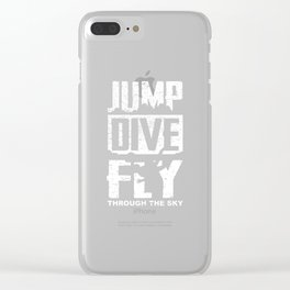 Skydiving Jump Dive Fly Through The Sky Gift Idea Clear iPhone Case