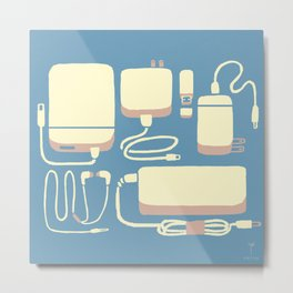 Digital Emergency Kit (Air Blue) Metal Print