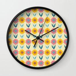 Hello Sunshine Sunflower Wall Clock