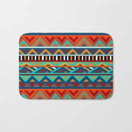 Affrican pattern, abstract geometric pattern Bath Mat