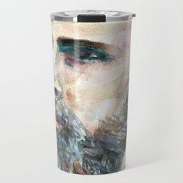 BRAM STOKER - watercolor portrait.2 Travel Mug