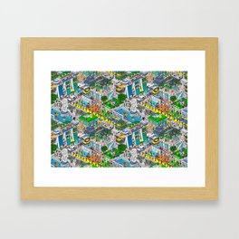 Pixels X Singapore Framed Art Print